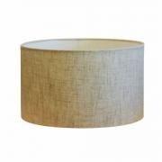 Cúpula em Tecido Cilindrica Abajur Luminária Cp-4189 50x30cm Rustico Bege