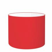 Cúpula em Tecido Cilindrica Abajur Luminária Cp-4189 50x30cm Vermelho