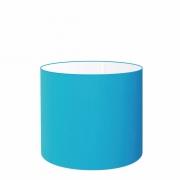 Cúpula em Tecido Cilíndrico Abajur Luminária Cp-4143 35x25cm Azul Turquesa