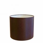 Cúpula em Tecido Cilíndrico Abajur Luminária Cp-4143 35x25cm Café