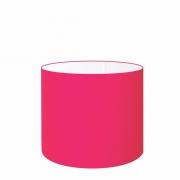 Cúpula em Tecido Cilíndrico Abajur Luminária Cp-4143 35x25cm Rosa Pink
