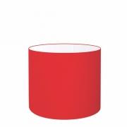 Cúpula em Tecido Cilíndrico Abajur Luminária Cp-4143 35x25cm Vermelho