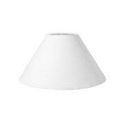 Cúpula em Tecido Cone Abajur Luminária Cp-4078 25/40x15cm Branco