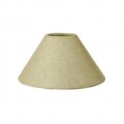 Cúpula em Tecido Cone Abajur Luminária Cp-4078 25/40x15cm Rustico Bege