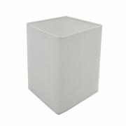 Cúpula em Tecido Quadrada Abajur Luminária Cp-4007 25/16x16cm Branco
