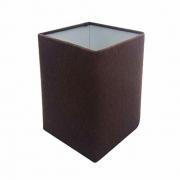 Cúpula em Tecido Quadrada Abajur Luminária Cp-4007 25/16x16cm Café