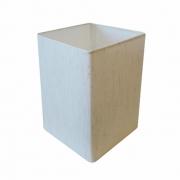 Cúpula em Tecido Quadrada Abajur Luminária Cp-4007 25/16x16cm Linho Bege