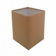Cúpula em Tecido Quadrada Abajur Luminária Cp-4007 25/16x16cm Palha