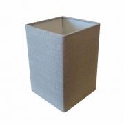 Cúpula em Tecido Quadrada Abajur Luminária Cp-4007 25/16x16cm Rustico Cinza