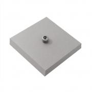 Kit/15 Canopla Lustre Pendente Quadrado Md-1005 12x12x2cm Cinza