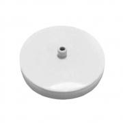Kit/5 Canopla Lustre Pendente Cilíndrica Vivare Md-1004 11x1,2cm Branco