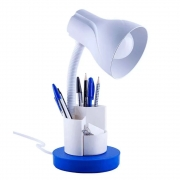 Luminária de Mesa Spiralle Azul Porta Lápis E27 Bivolt
