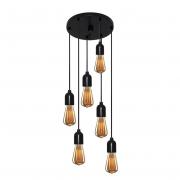 Lustre Luminária Retro Md-4162/6 Suporte Para Lâmpada / Não Inclusa - Bivolt