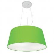 Lustre Pendente Cone Md-4048 Cúpula em Tecido 21/50x40cm Verde Limão - Bivolt