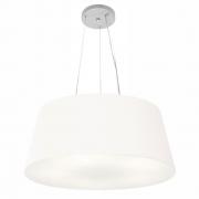 Lustre Pendente Cone Md-4062 Cúpula em Tecido 25/60x50cm Branco - Bivolt