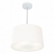 Lustre Pendente Cone Md-4156 Cúpula em Tecido 30/45x40cm Branco - Bivolt