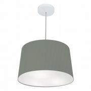 Lustre Pendente Cone Md-4156 Cúpula em Tecido 30/45x40cm Cinza Escuro - Bivolt