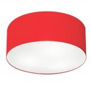 Plafon de Sobrepor Cilíndrico SP-3013 Cúpula Cor Vermelho