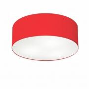 Plafon de Sobrepor Cilíndrico SP-3014 Cúpula Cor Vermelho