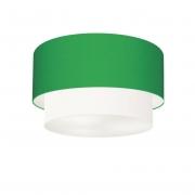 Plafon de Sobrepor Cilíndrico SP-3045 Cúpula Cor Verde Folha Branco