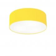 Plafon de Sobrepor Cilíndrico SP-3046 Cúpula Cor Amarelo