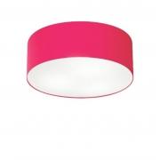 Plafon de Sobrepor Cilíndrico SP-3046 Cúpula Cor Rosa Pink