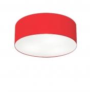 Plafon de Sobrepor Cilíndrico SP-3046 Cúpula Cor Vermelho