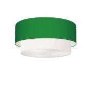 Plafon de Sobrepor Cilíndrico SP-3062 Cúpula Cor Verde Folha Branco