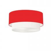 Plafon de Sobrepor Cilíndrico SP-3062 Cúpula Cor Vermelho Branco