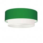 Plafon de Sobrepor Cilíndrico SP-3064 Cúpula Cor Verde Folha Branco