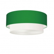 Plafon de Sobrepor Cilíndrico SP-3065 Cúpula Cor Verde Folha Branco