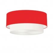 Plafon de Sobrepor Cilíndrico SP-3065 Cúpula Cor Vermelho Branco
