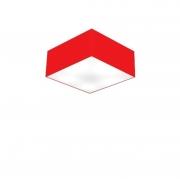 Plafon de Sobrepor Quadrado SP-3000 Cúpula Cor Vermelho