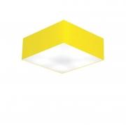 Plafon de Sobrepor Quadrado SP-3001 Cúpula Cor Amarelo