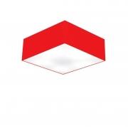 Plafon de Sobrepor Quadrado SP-3001 Cúpula Cor Vermelho