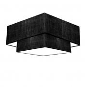 Plafon de Sobrepor Quadrado SP-3018 Cúpula Cor Preto