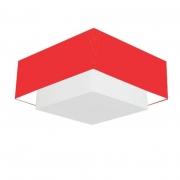 Plafon de Sobrepor Quadrado SP-3022 Cúpula Cor Vermelho