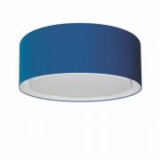 Plafon Duplo Cilíndrico Md-3036 Cúpula em Tecido 50x25cm Azul Marinho - Bivolt
