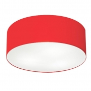 Plafon Para Banheiro Cilíndrico SB-3006 Cúpula Cor Vermelho