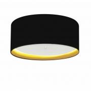 Plafon Para Banheiro Cilíndrico SB-3161 Cúpula Cor Preto Amarelo