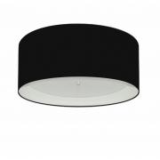 Plafon Para Banheiro Cilíndrico SB-3161 Cúpula Cor Preto Branco