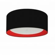Plafon Para Banheiro Cilíndrico SB-3161 Cúpula Cor Preto Vermelho