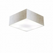 Plafon Para Banheiro Quadrado SB-3001 Cúpula Cor Linho Bege