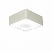 Plafon Para Banheiro Quadrado SB-3001 Cúpula Cor Rustico Cinza