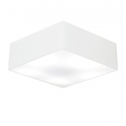 Plafon Para Banheiro Quadrado SB-3060 Cúpula Cor Branco