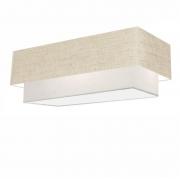 Plafon Para Banheiro Retangular SB-3044 Cúpula Cor Rustico Bege Branco