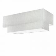 Plafon Para Banheiro Retangular SB-3044 Cúpula Cor Rustico Cinza