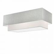 Plafon Para Banheiro Retangular SB-3044 Cúpula Cor Rustico Cinza Branco