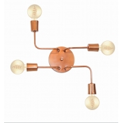 Plafon Para Quarto Retro Vintage Industrial SQ-9000-4 Cobre