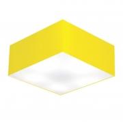 Plafon Para Sala de Estar Quadrado SE-3012 Cúpula Cor Amarelo